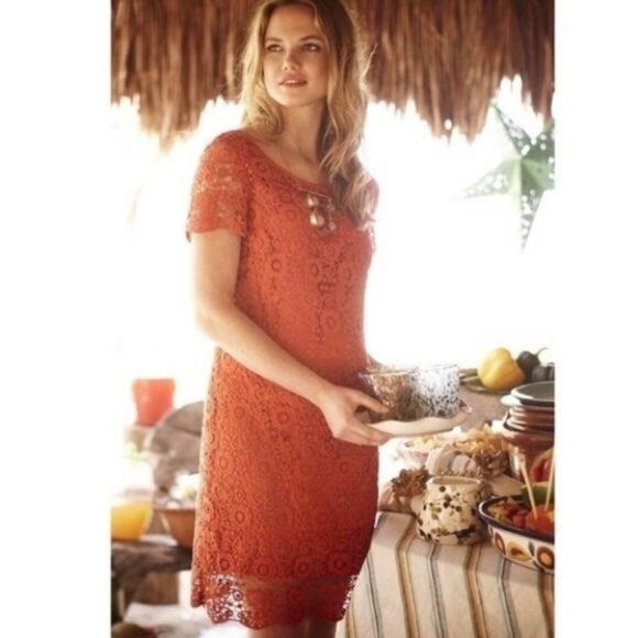 Moulinette Seours Anthro Horkelia Lace Shift Dress